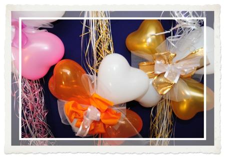 Mini-Herzballons Deko-Hochzeit