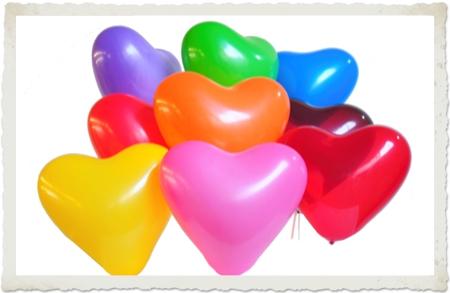 günstige Mini Herzluftballons
