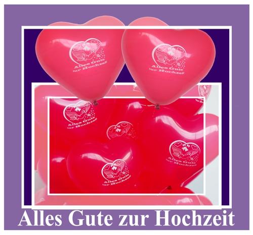 Luftballons Herzen Alles Gute zur Hochzeit