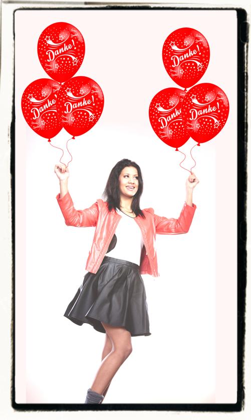 Danke sagen mit Luftballons
