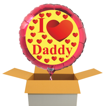I Love Daddy Luftballon zum Vatertag